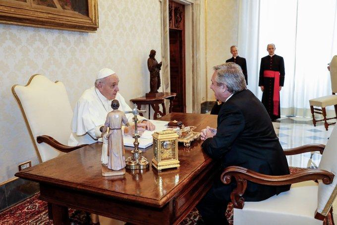 Fernández se reunió con el Papa Francisco