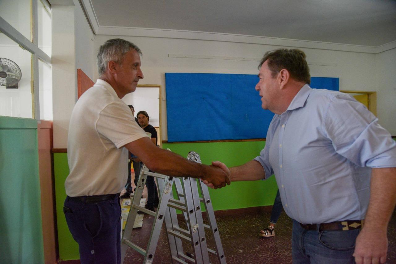 Montenegro supervisó trabajos de arreglos y mantenimiento en el Jardín de Infantes Nº5