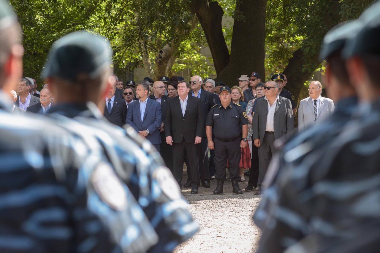 Montenegro participó del acto en reconocimiento a policías caídos en cumplimiento del deber