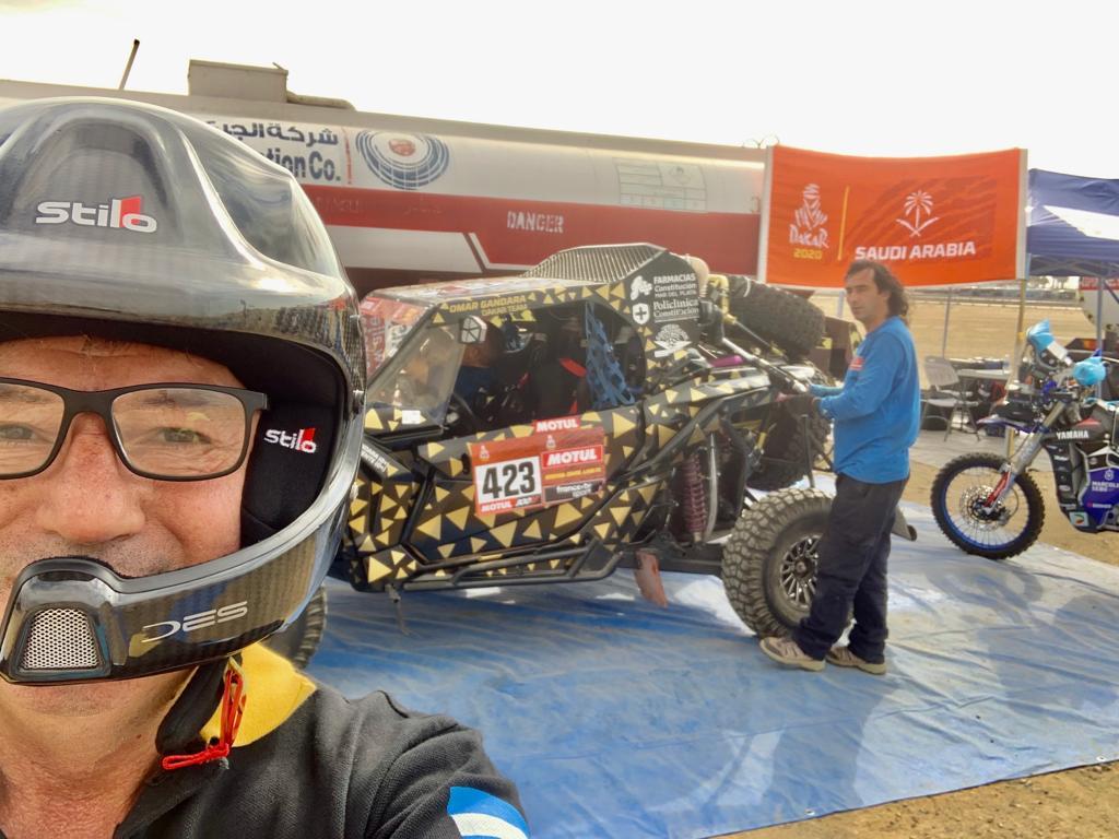 Omar Gandara finalizó la primera etapa del Dakar 2020