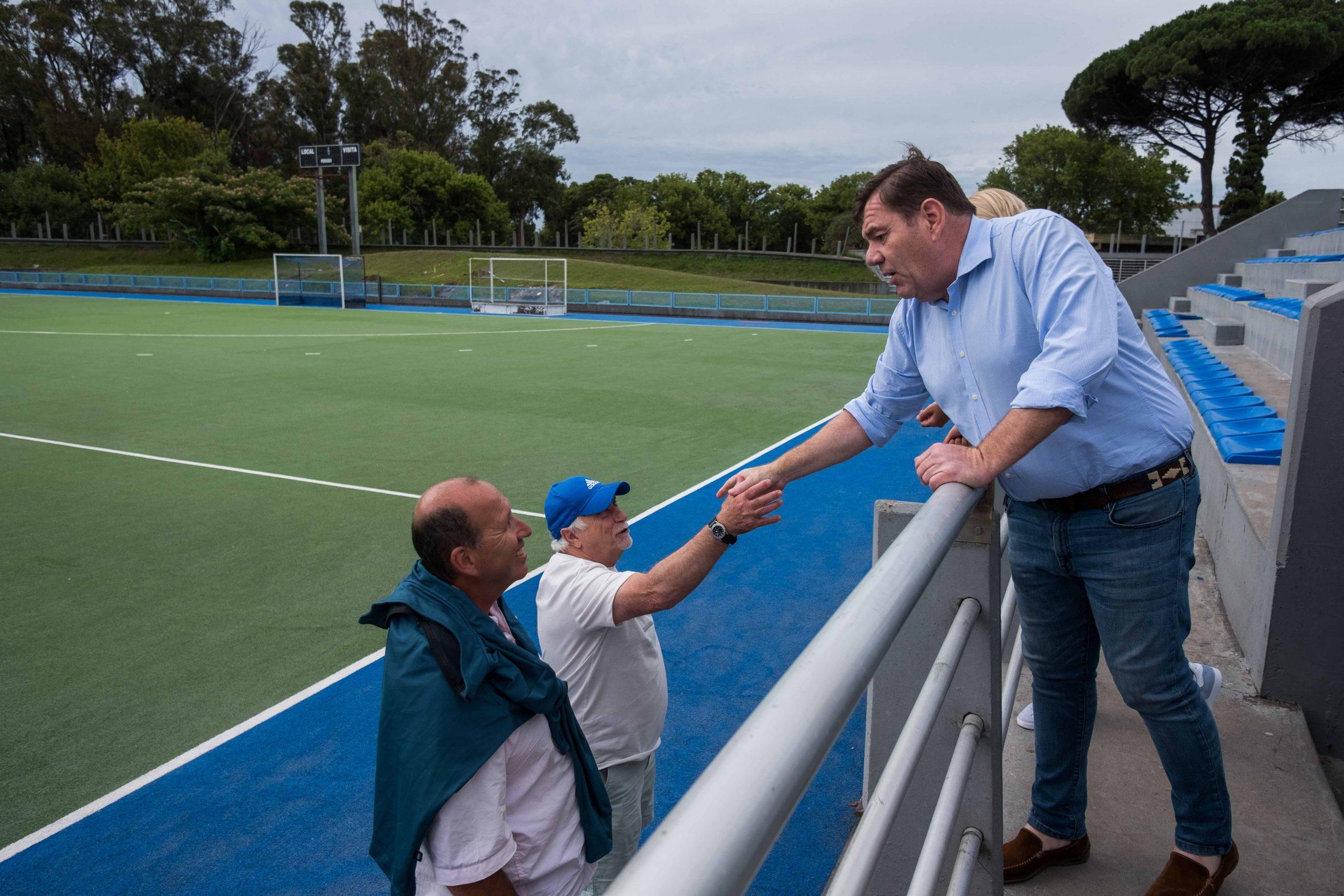 El Intendente recorrió las obras en el Estadio Panamericano de Hockey