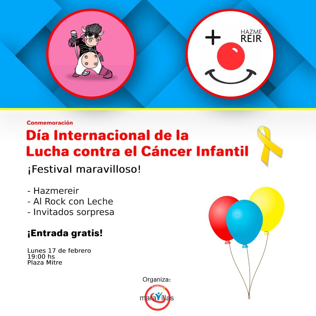 Festival gratuito: Fundación Maravillas conmemorará el Día de la Lucha contra el Cáncer Infantil en Plaza Mitre