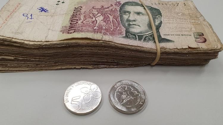 El domingo saldrá de circulación el billete de 5 pesos