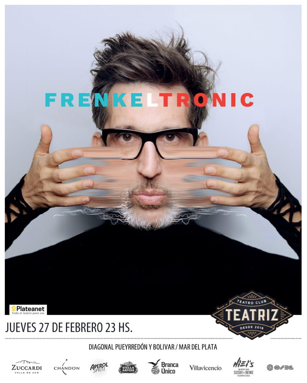 Diego Frenkel presenta nuevo material en Teatriz