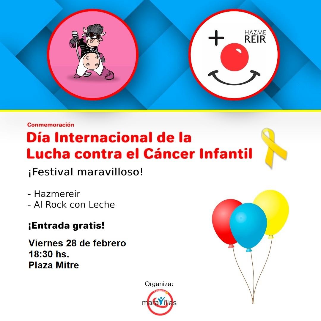Lucha contra el Cáncer Infantil: Fundación Maravillas hará un festival gratuito en Plaza Mitre