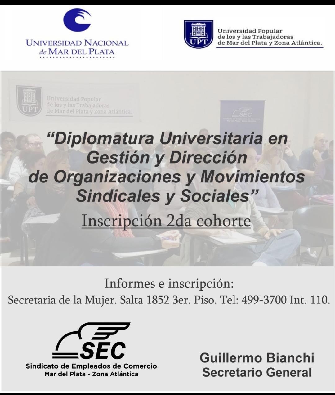 Abren inscripción a Diplomaturas en la Universidad Popular de Trabajadores