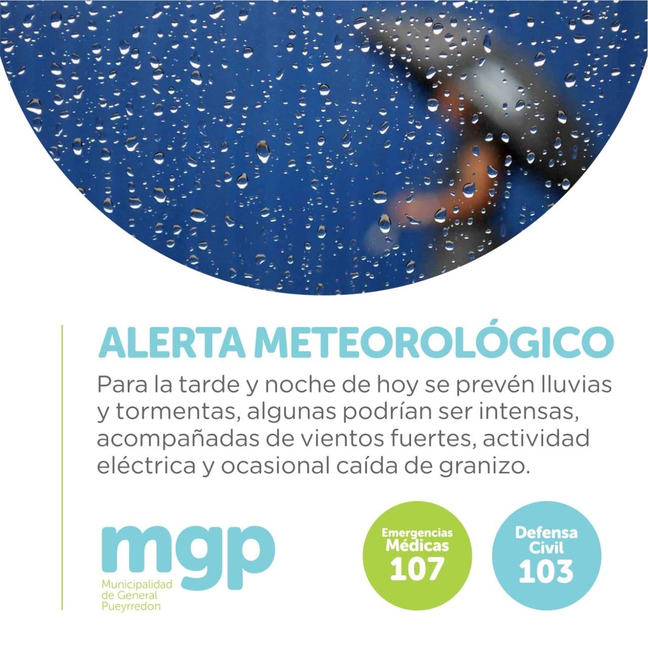 Mar del Plata afectada por un alerta meteorológico