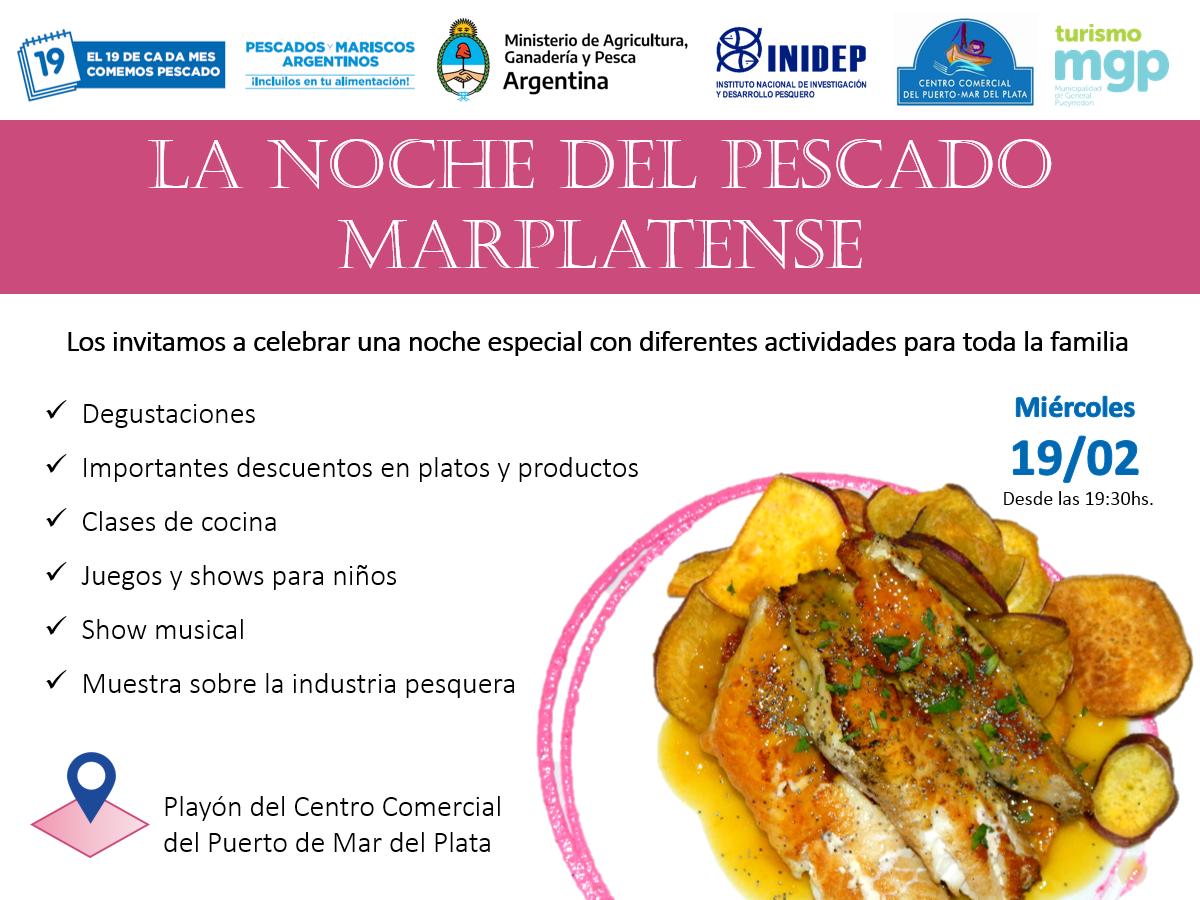 Se viene la noche del pescado marplatense con ofertas especiales en el Centro Comercial del Puerto