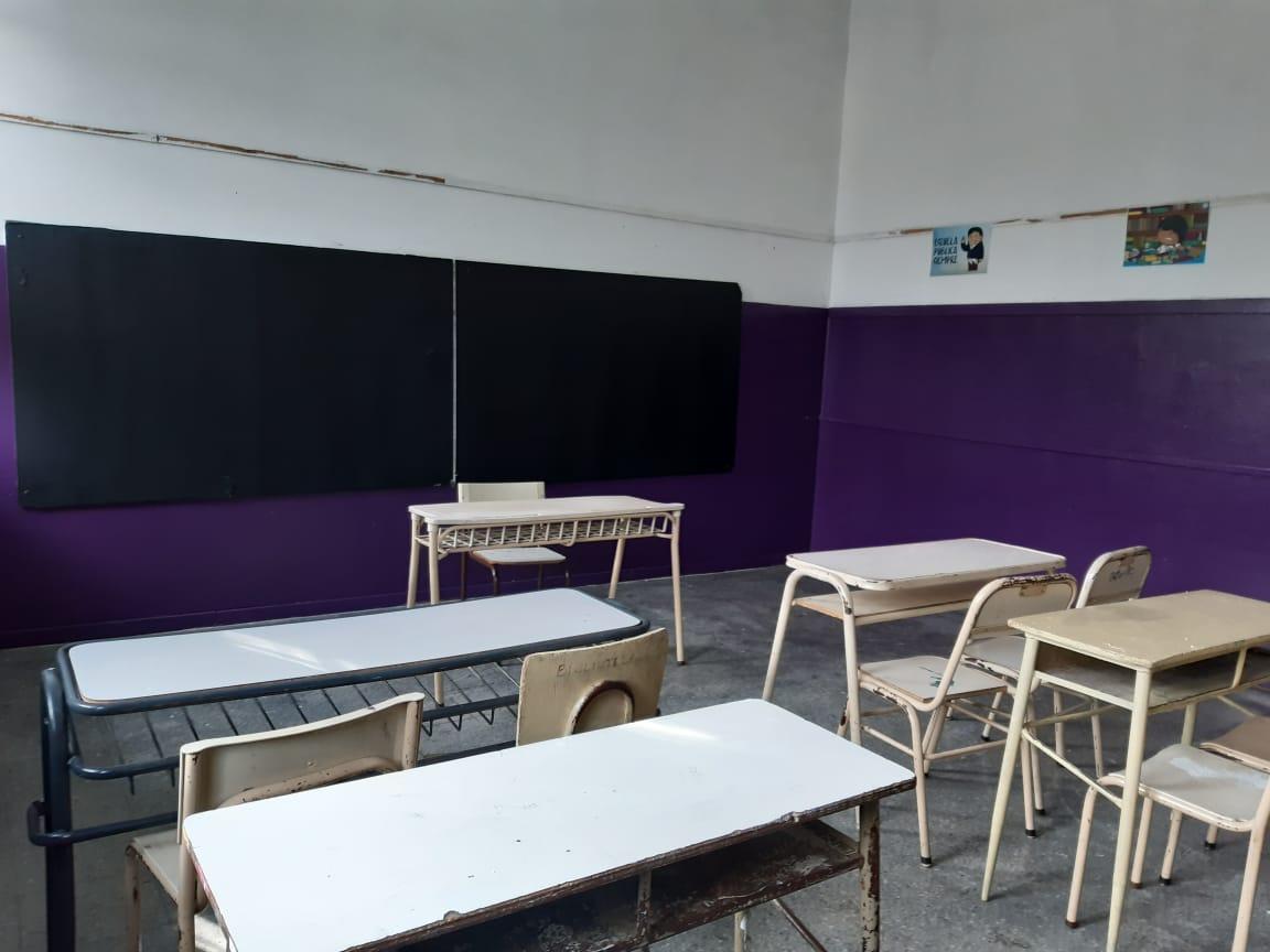 Jóvenes Solidarios realizó refacciones en Escuela 4