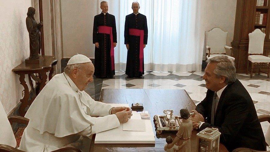 """Fernández: """"No se habló del aborto con el Papa"""""""