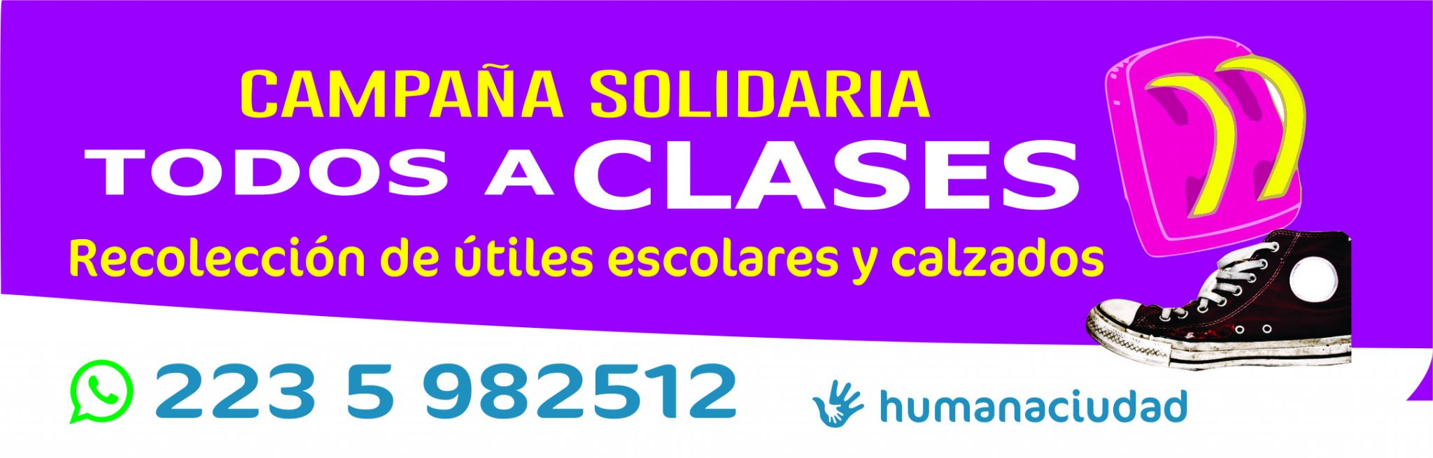 """Lanzan campaña solidaria """"Ningún niño fuera de la escuela"""""""