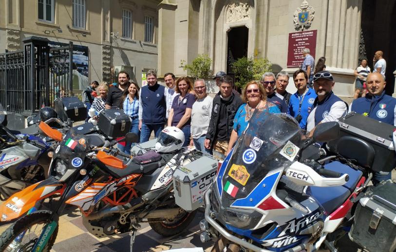 Misioneros en motocicleta llegaron a Mar del Plata