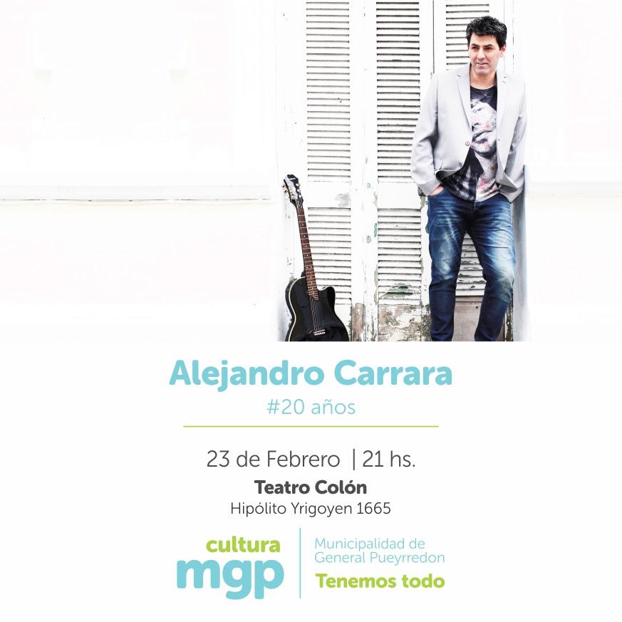 Alejandro Carrara celebra 20 años de trayectoria en el Teatro Colón
