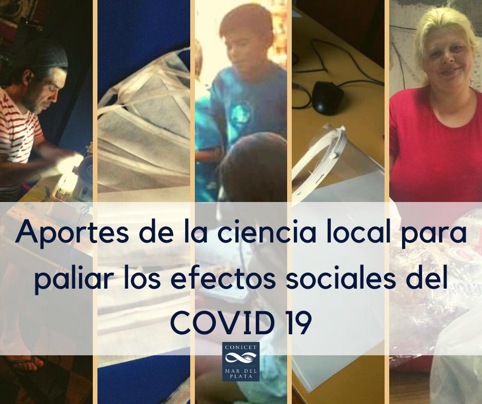 Aportes de la ciencia local para paliar los efectos sociales del COVID 19