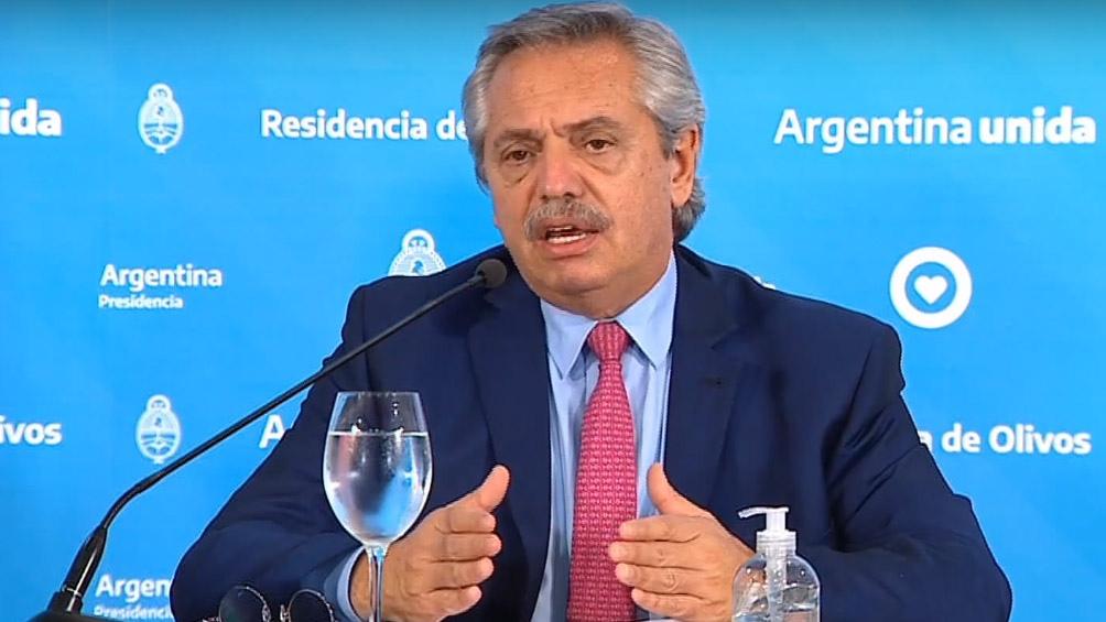 """Alberto Fernández: """"Vamos a prolongar la cuarentena hasta el fin de la Semana Santa"""""""