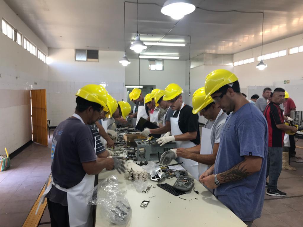 Inauguraron una planta de tratamiento de residuos electrónicos en una de las cárceles de Batán