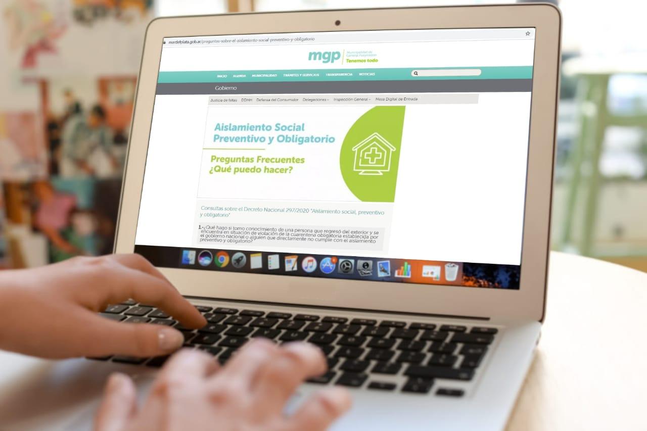 Se habilitó un sitio virtual que da respuesta a las dudas más frecuentes en torno al coronavirus