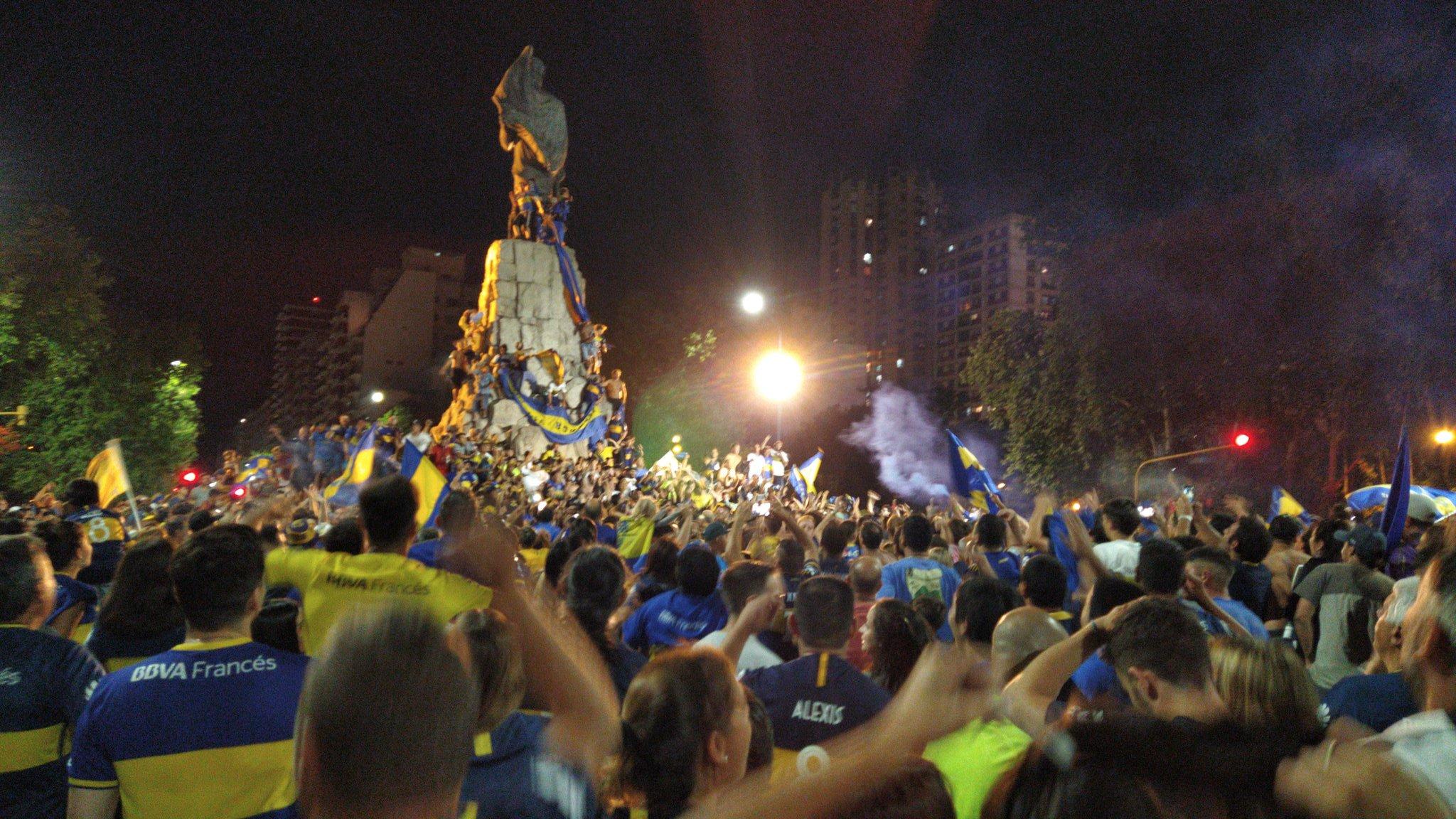 En Mar del Plata también festejaron los hinchas de Boca