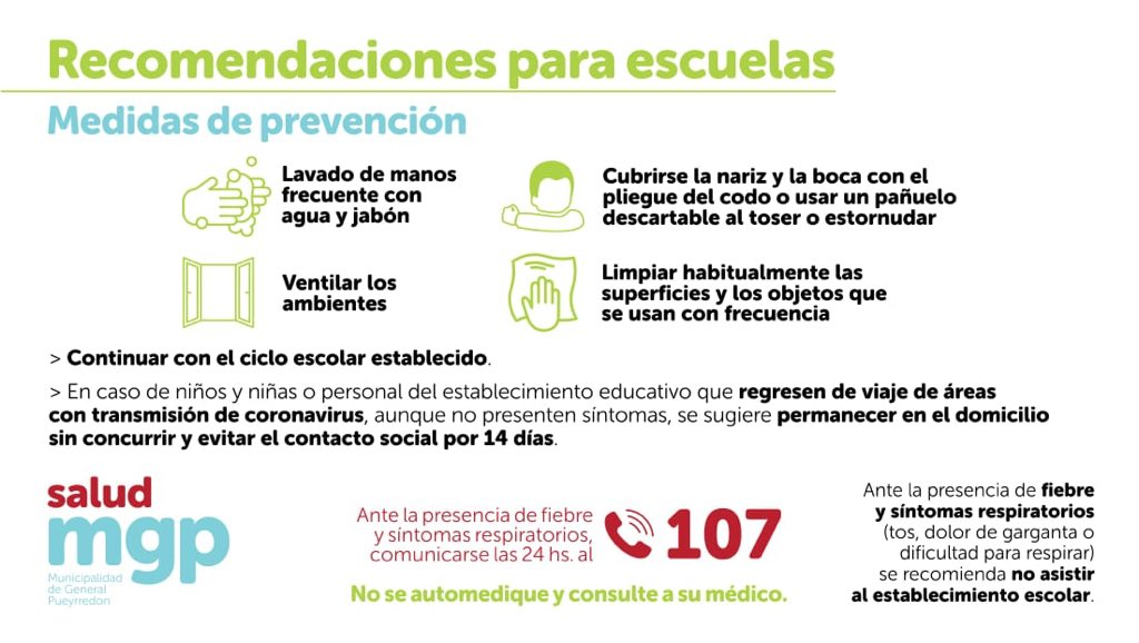 Coronavirus: la Secretaría de Salud amplía recomendaciones a geriátricos y escuelas