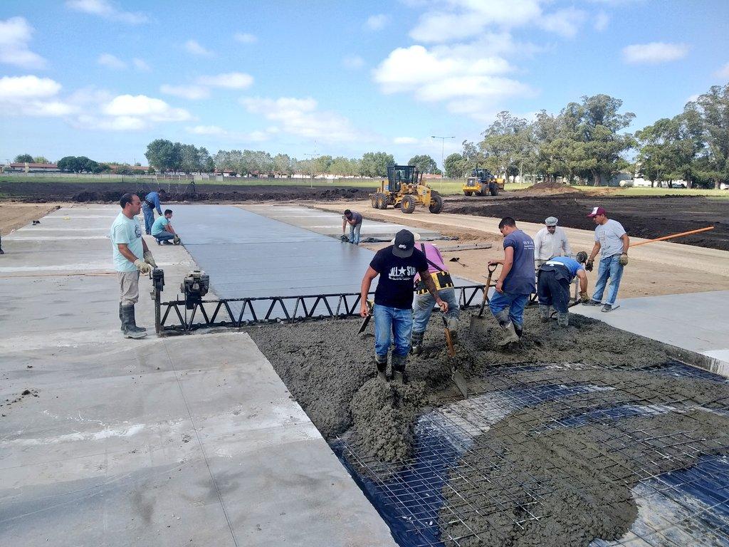 Intenso ritmo de obra del hospital modular de Mar del Plata