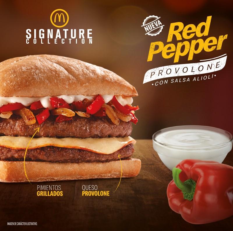 McDonald's presenta la nueva Red Pepper Provolone que se suma a la línea Signature Collection