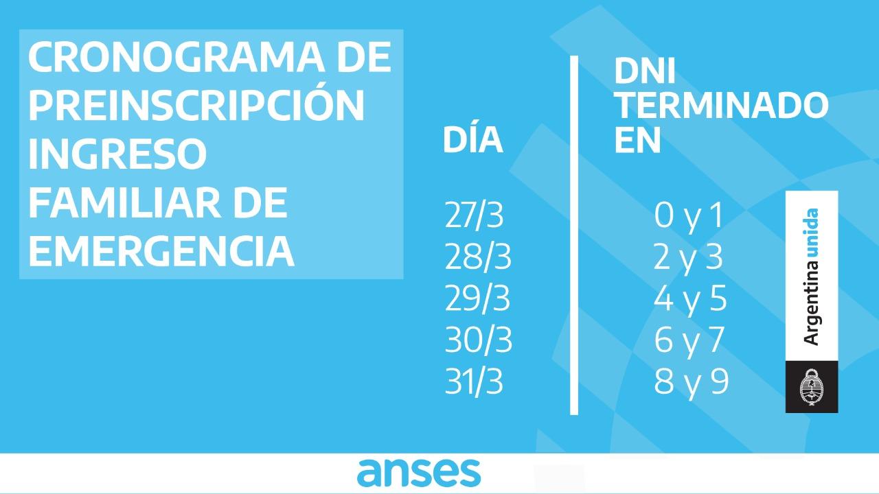 ANSES fijó un cronograma de pre-inscripción para el bono de 10.000 pesos