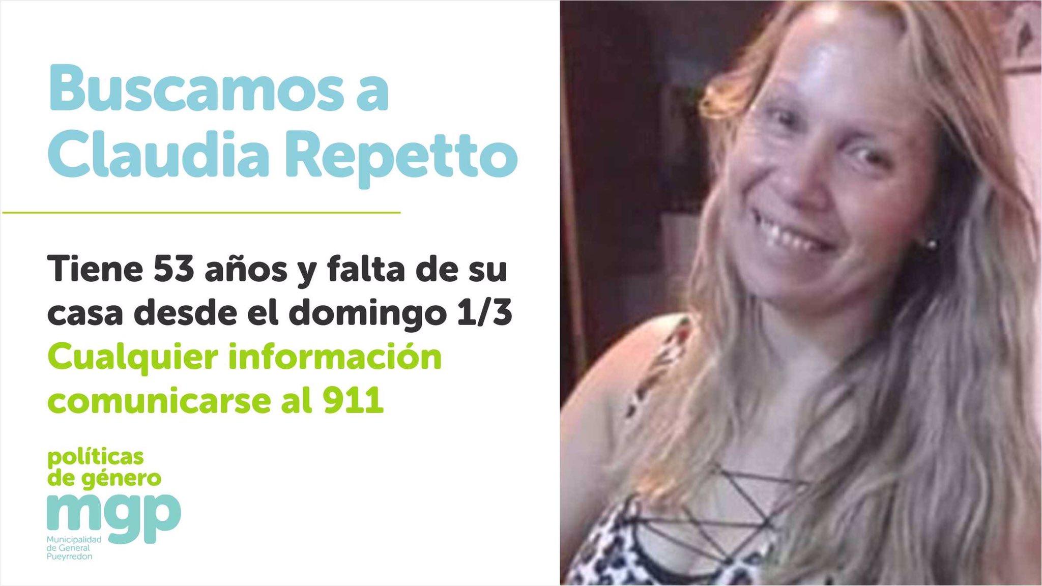 Piden al Intendente una recompensa para quien aporte datos a la justicia sobre el caso de Claudia Repetto