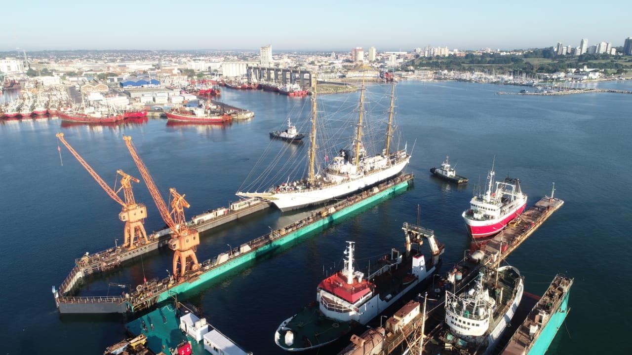 Comenzaron los trabajos de puesta en valor de la Fragata Libertad en el Astillero SPI