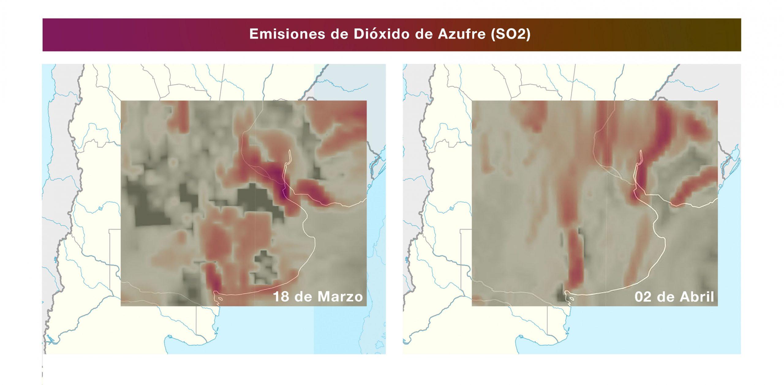 Las imágenes satelitales que muestran por qué cambió el olor del aire desde el inicio de la cuarentena