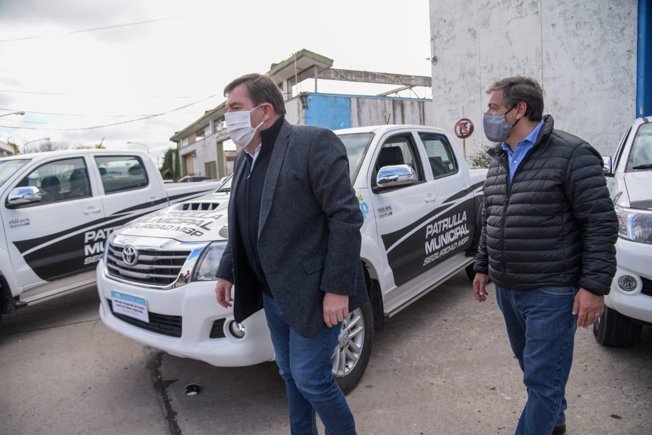 Montenegro presentó los vehículos recuperados por la lucha contra el crimen organizado