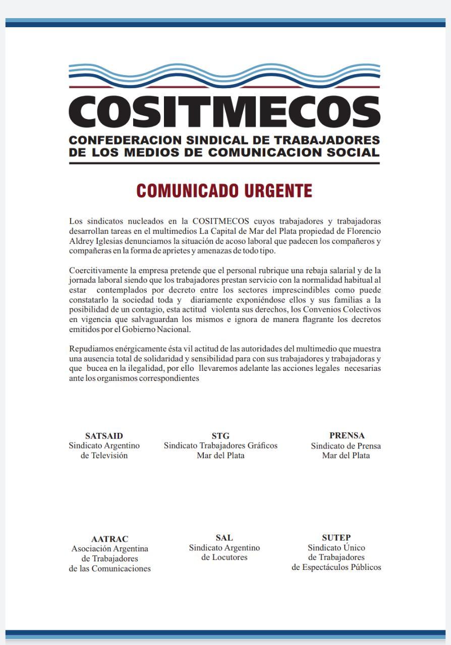 Denuncian acoso laboral en Diario La Capital