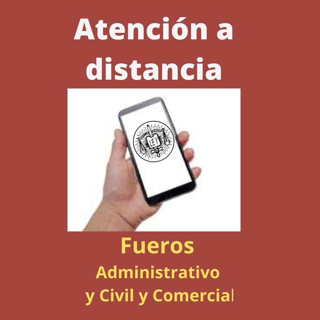 Atención a distancia en la Justicia local