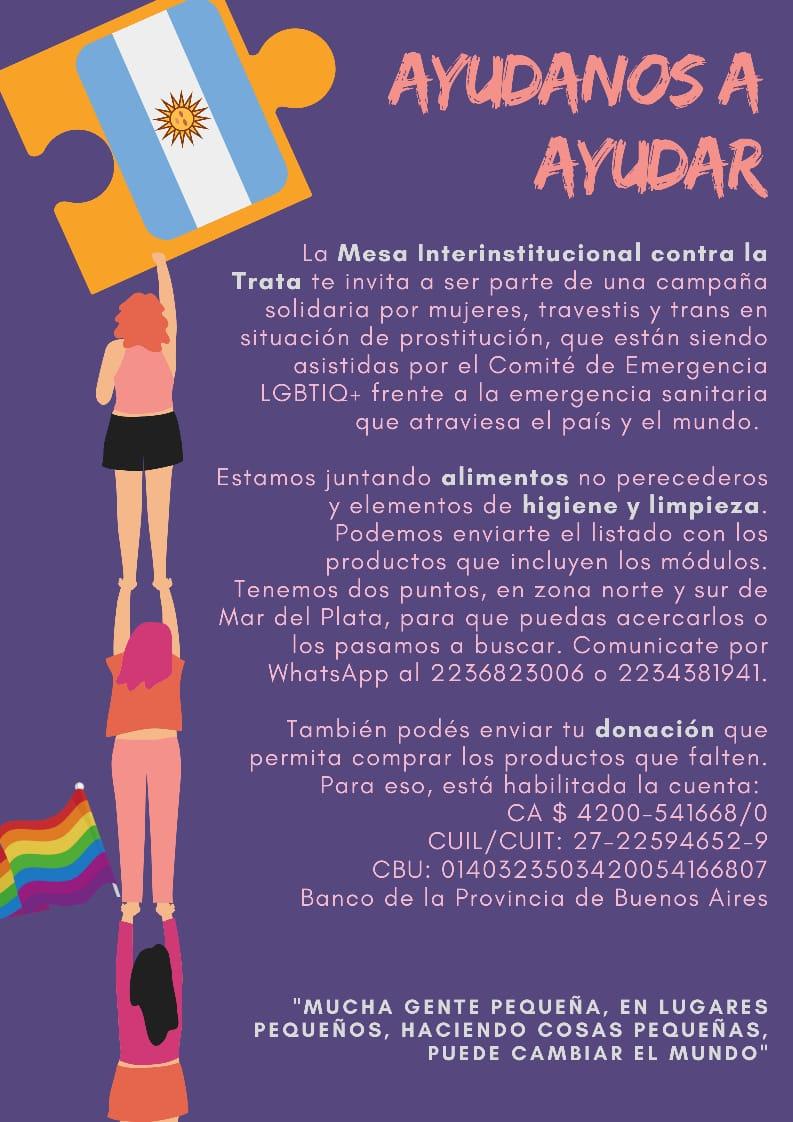 """Mesa contra la Trata lanzó la campaña """"Ayudanos a ayudar"""" para asistir a personas en situación de prostitución"""
