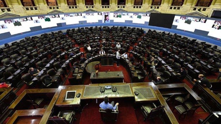 Senado y Diputados sesionan hoy en forma virtual por primera vez en su historia