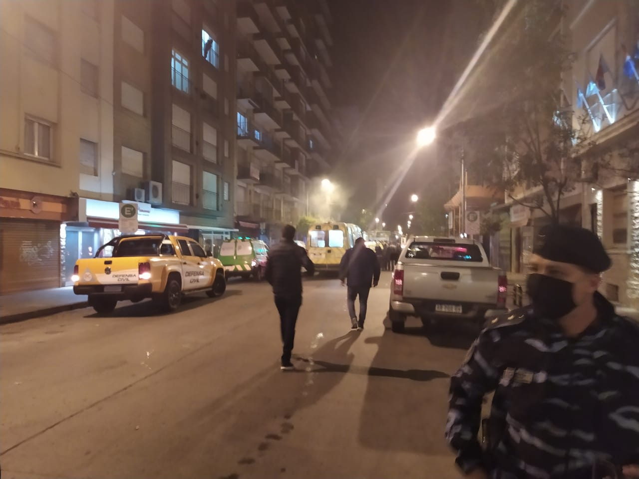 Explosión por fuga de gas en pleno centro de Mar del Plata