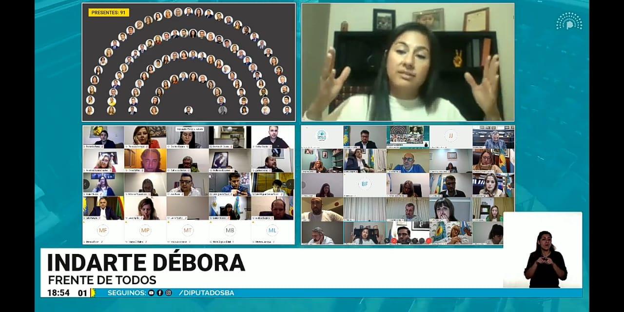 Fuerte presencia de diputados seccionales del Frente de Todos en la primera sesión virtual