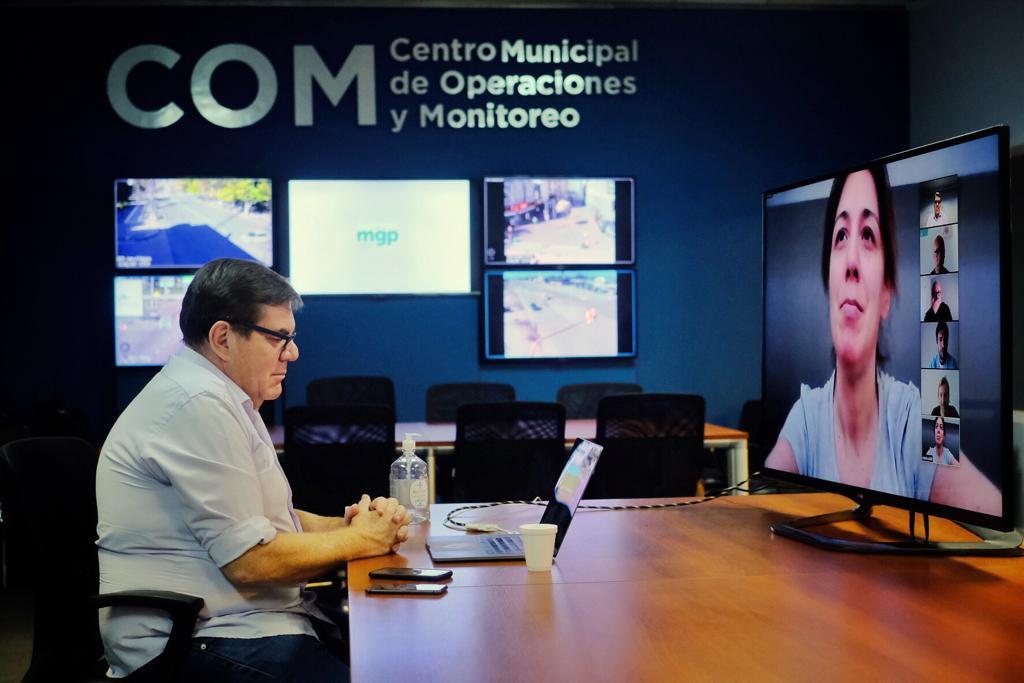 Vidal mantuvo videoconferencia con Montenegro y todo su gabinete