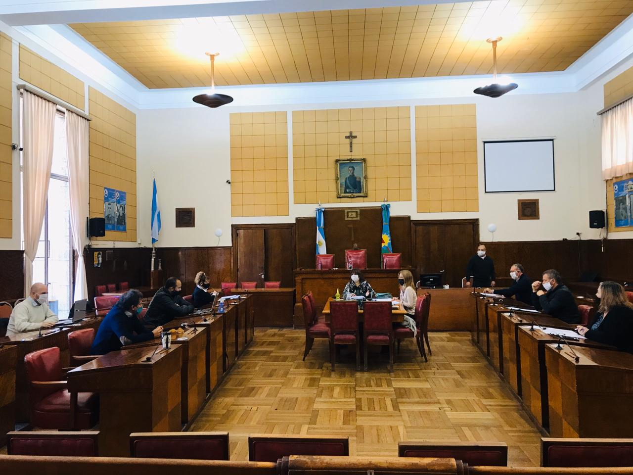 Se llevó a cabo la primera reunión de comisiones en forma presencial en el Concejo Deliberante