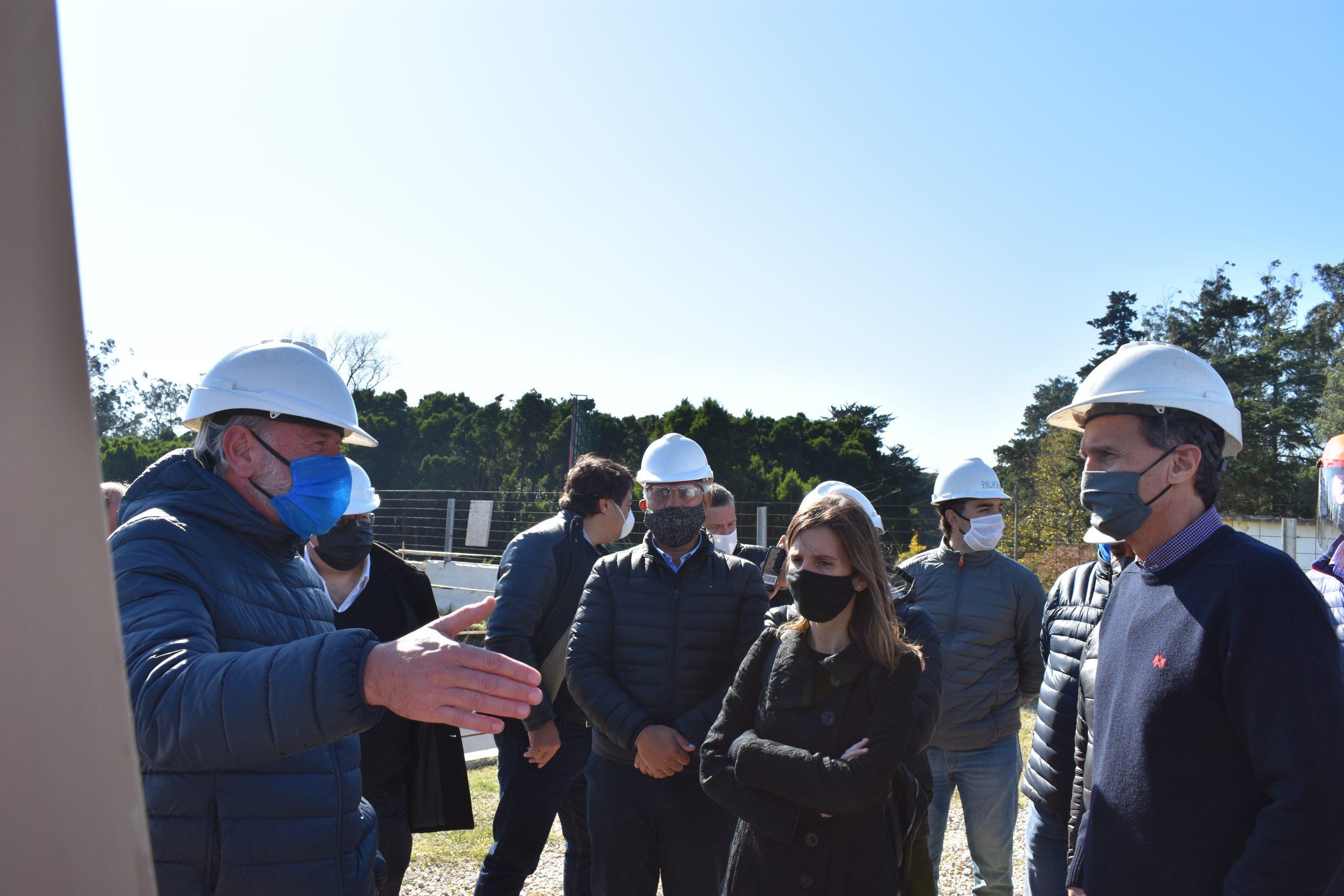 El Ministro de Obras de la Nación recorrió la zona de trabajo del Acueducto Oeste