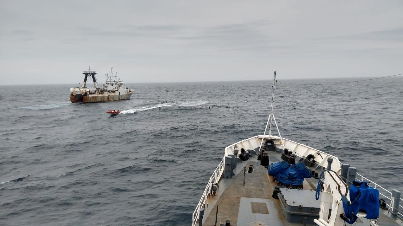 Prefectura capturó un buque pesquero de bandera de Portugal, operando ilegalmente