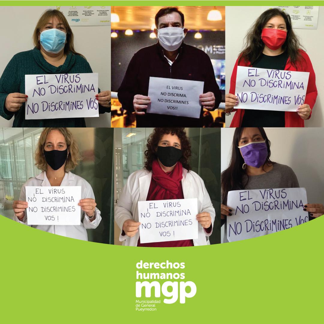 """La Municipalidad lanzó la campaña """"El virus no discrimina, no discrimines vos"""""""
