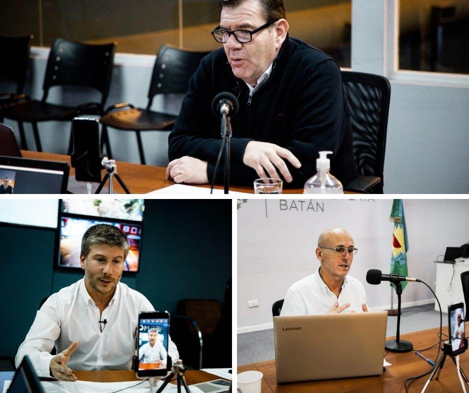 Montenegro y funcionarios municipales realizan vivos con los vecinos de Mar del Plata