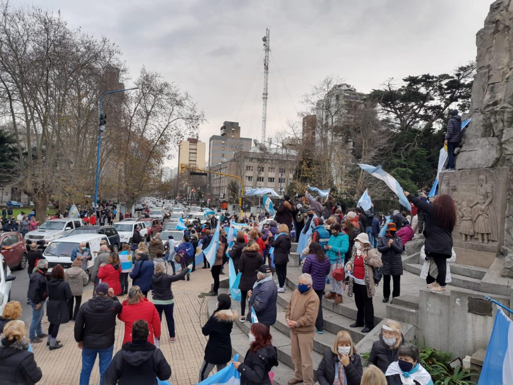 Otro banderazo contra el gobierno volvió a sentirse en Mar del Plata