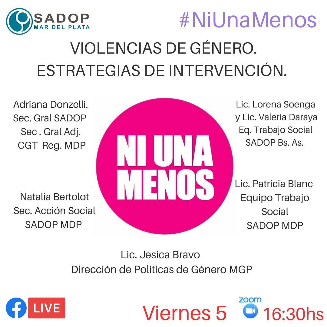 """SADOP realiza charla sobre """"Estrategias de intervención en casos de violencia de género"""""""