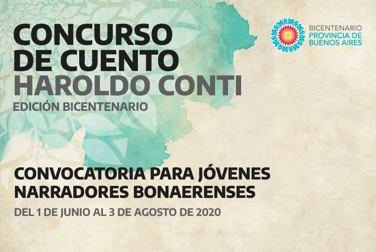 CONTINÚA LA CONVOCATORIA AL CONCURSO DE CUENTO HAROLDO CONTI - EDICIÓN BICENTENARIO