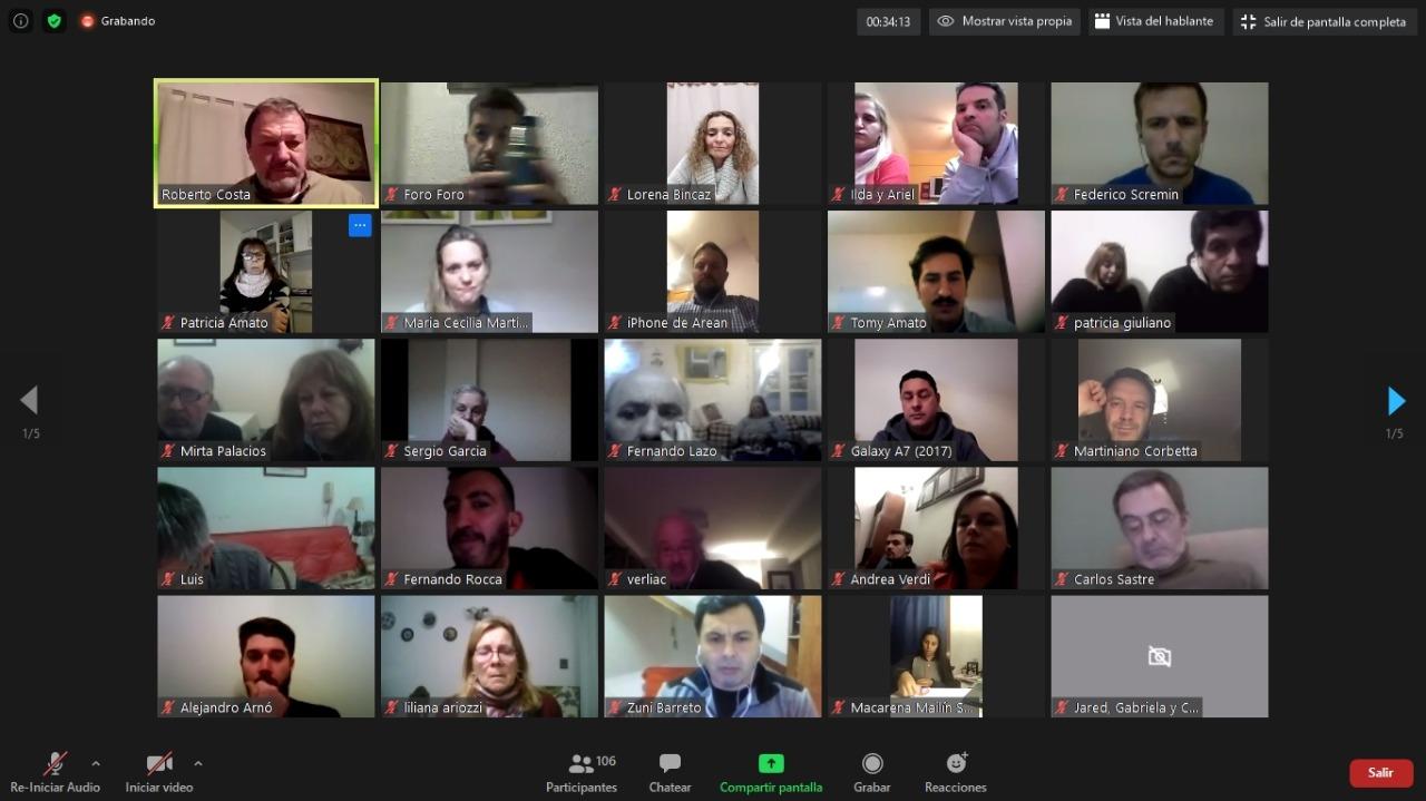 Los senadores Costa y Fiorini encabezaron reunión virtual
