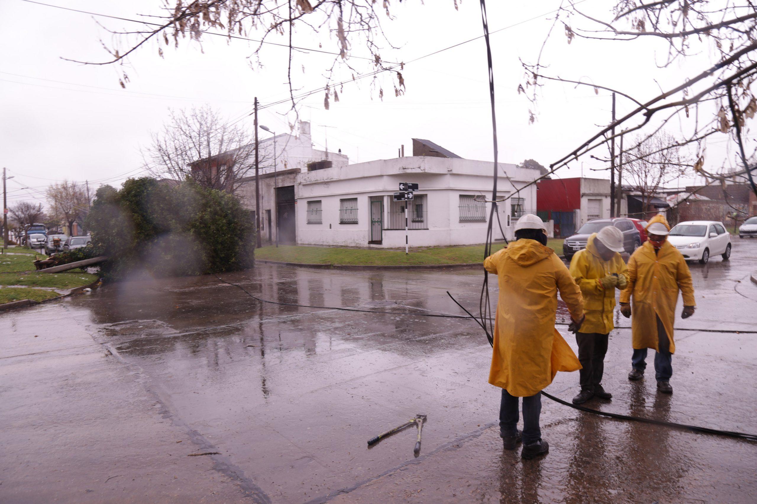 Temporal: más de una decena de barrios afectados por la falta de energía eléctrica