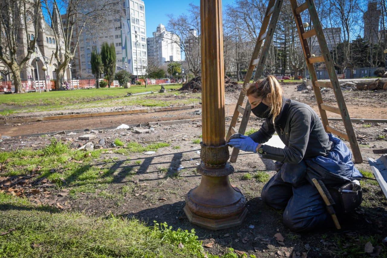 Avanza la restauración y puesta en valor de la plaza San Martín
