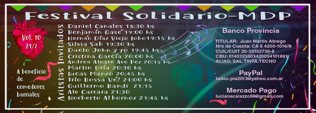 FESTIVAL SOLIDARIO MDP - 10° Edición