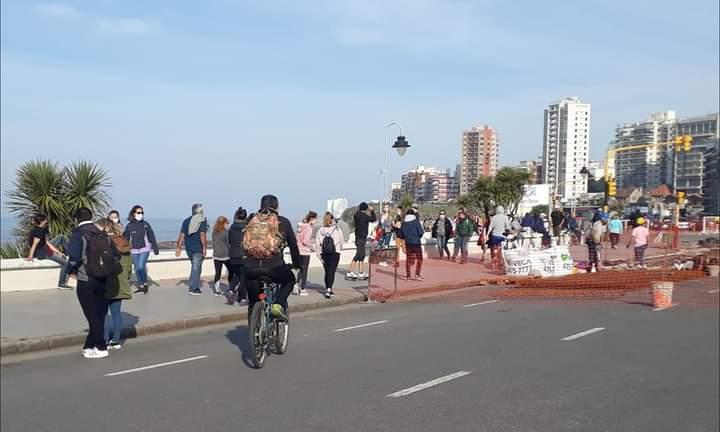 Peatonalizarán los fines de semana un sector de la costa marplatense